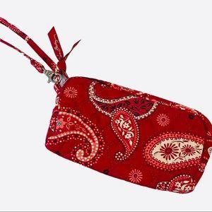 Vera Bradley Mesa Red Wristlet Phone Wallet ID